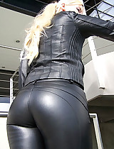 The best beauty angels wearing tight latex leggings
