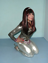 Totally awesome footage with hot teens in latex leggings